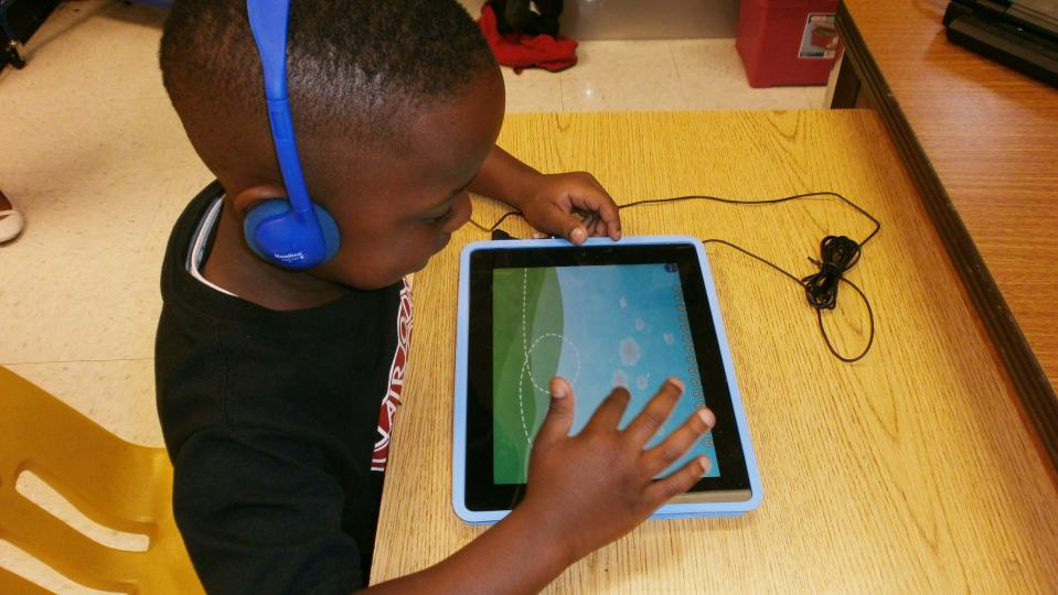 Children as early as Pre-Kindergarten at Love T. Nolan Elementary School in College Park, Georgia have access to the iPad to reinforce techniques taught in the classroom. https://www.flickr.com/photos/116952757@N08/14161914543